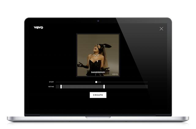 Vevo lets you make GIFs from its massive music video library
