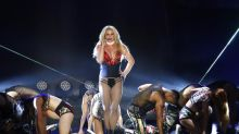 Britney Spears sends fans wild as she performs Texas concert in VERY racy red lingerie
