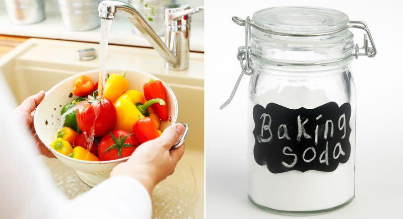 astuce une maman a r v l utiliser du bicarbonate de soude pour laver les l gumes. Black Bedroom Furniture Sets. Home Design Ideas