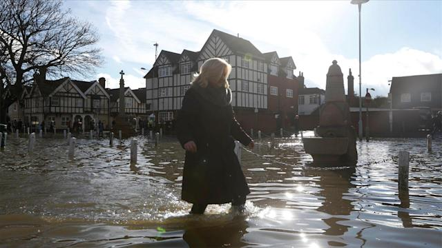 Thames River Floods Banks Near London, and More