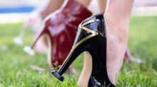 New invention lets you wear high heels in the grass