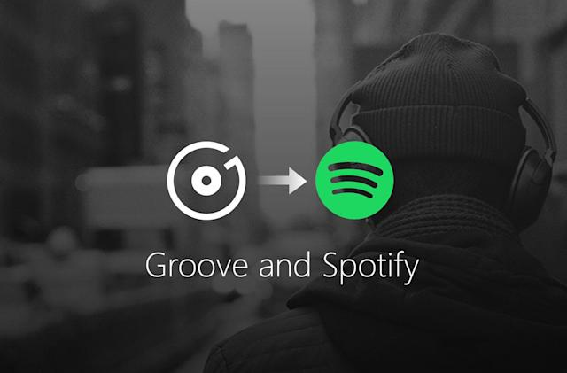 Microsoft gives up on Groove Music, switches customers to Spotify