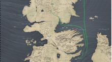 This hilarious map shows how far Jon Snow has traveled compared to the White Walkers on 'Game of Thrones'