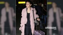 Alia Bhatt Makes A Fashion Statement In A Pink Overcoat As She Returns From Her Los Angeles Vacation