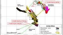 Gold Resource Corporation Expands Arista Mine Drilling 16.95 Meters of 6.21 g/t Gold and Discovers New Mineralized Southwest Veins