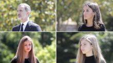 Así ha sido el minuto de silencio de Felipe y Letizia junto a sus hijas