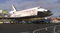 Endeavour finishes 1st leg of trip to museum