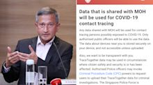 I didn't think of Criminal Procedure Code when speaking earlier about TraceTogether: Vivian Balakrishnan