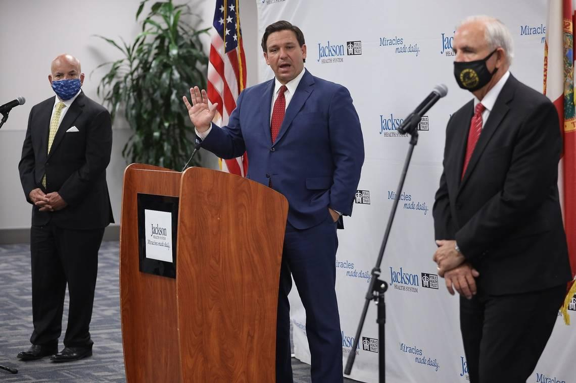 Suit filed against DeSantis for not having sign-language interpreters at COVID briefings
