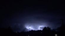 Spectacular Lightning Storm Over Auckland