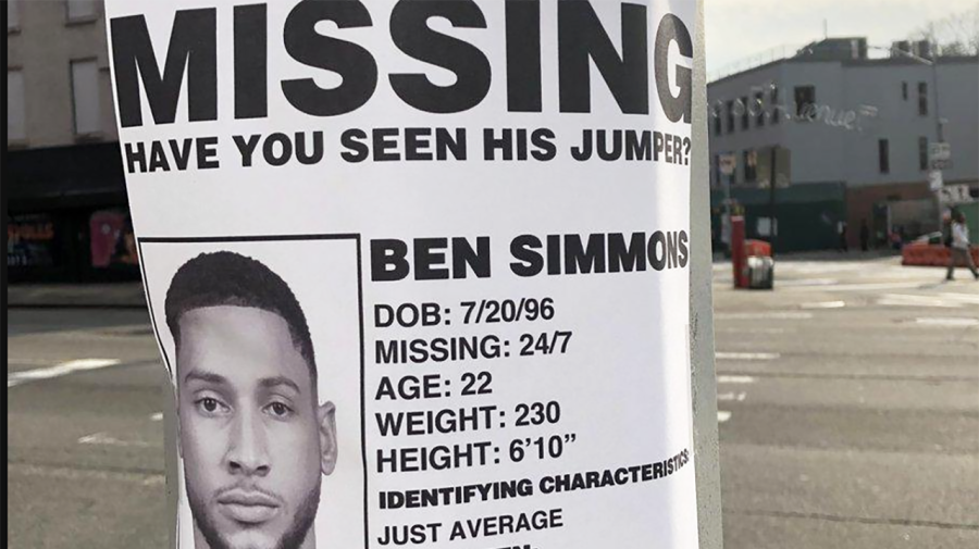 Rival fans take down Ben Simmons in savage stunt