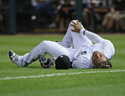 Yoan Moncada left Monday's game after a collision in right field. (Getty Images)