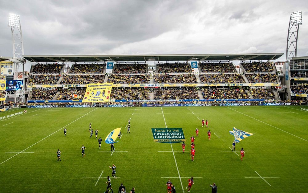 There was a terrific atmosphere for Saturday's Clermont Auvergne vs Toulon match - Rex Features
