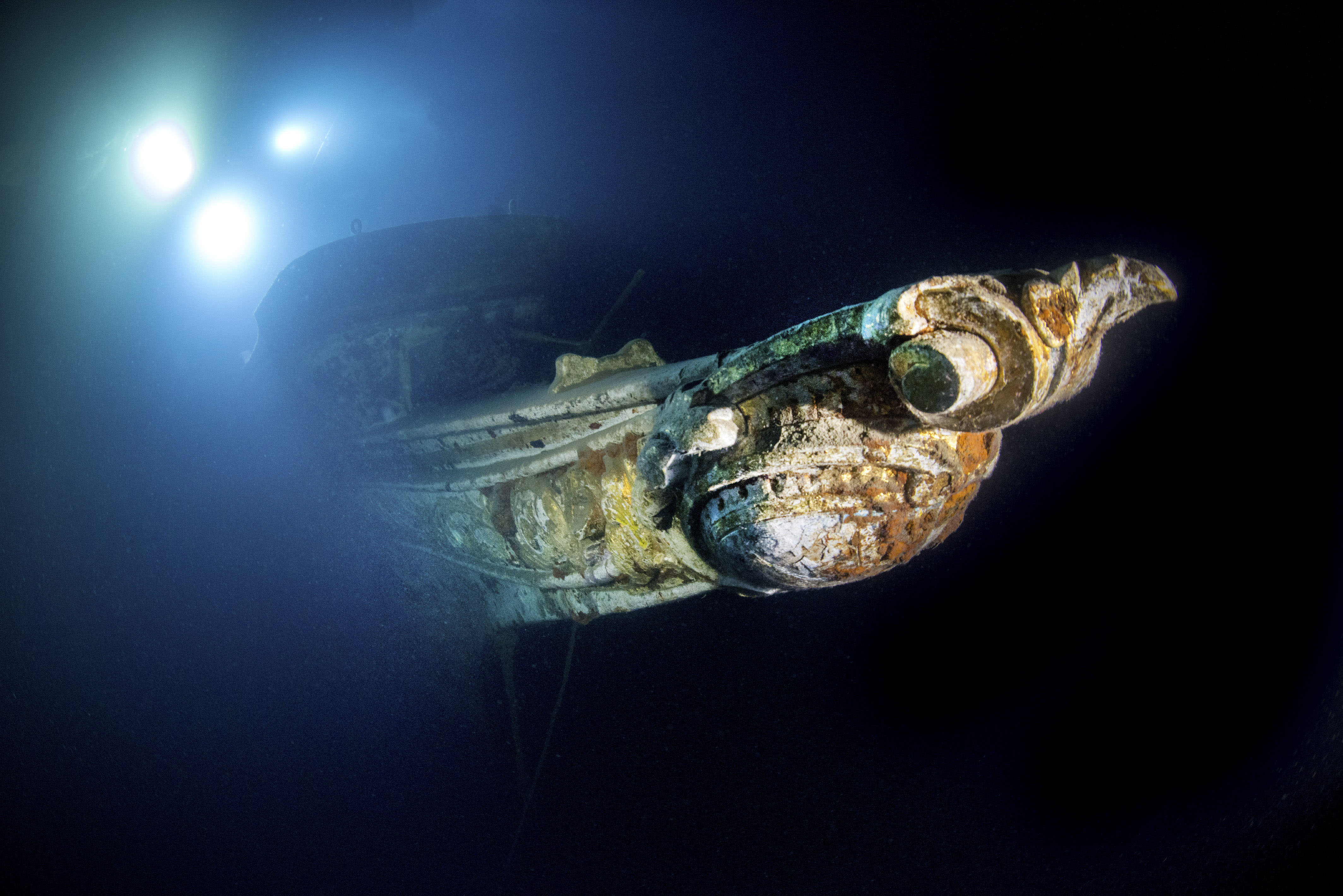 <p>At 60 meters long and built in Leith, Scotland, in 1897, the Gunilda sunk after it struck some rocks and could not be saved. (Photo: Becky Kagan Schott/Caters News) </p>