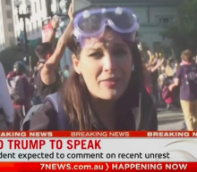 'Wanton thuggery': Australian reporter knocked down by police live on air as she covered George Floyd protests in DC