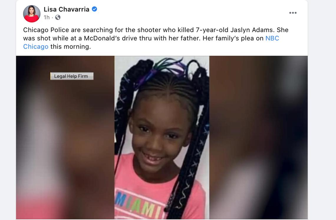 7-year-old girl fatally shot in McDonald's drive-thru, Illinois police say