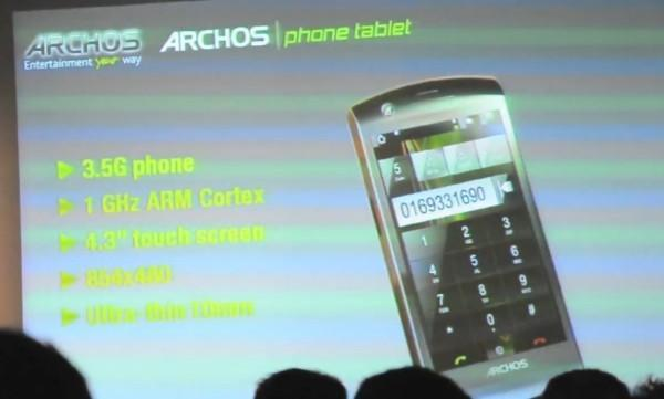 Archos Android Phone Tablet introduced on video