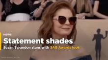 No One on Earth Can Deal With Susan Sarandon Rolling Up to the SAG Awards in Sunglasses