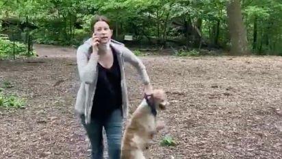 White woman calls cops on black man over dog leash