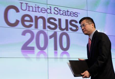 FILE PHOTO: U.S. Commerce Secretary Gary Locke arrives at the presentation of the 2010 Census U.S. population at the National Press Club in Washington
