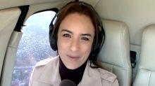Pânico! Repórter da Globo se desespera com incidente dentro de helicóptero