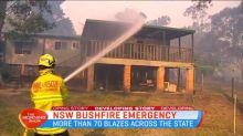 Houses destroyed as bushfires rage in NSW