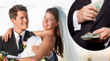 Bride and groom slammed for turning profit at cash-bar wedding