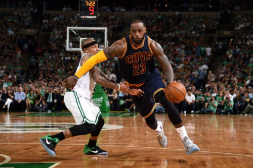 LeBron James plays David to Isaiah Thomas' Goliath. (Getty Images)