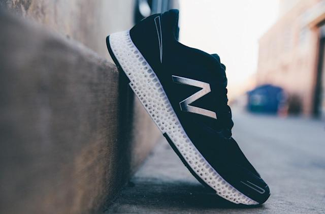 New Balance unveils its first 3D-printed running shoe