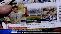 Padres fans cry foul over Yankee game ticket switch