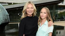 Kate Moss attends New York Fashion Week show with lookalike teenage daughter Lila Grace