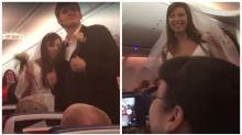 Pilot marries couple on five-hour flight