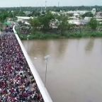 Thousands of migrants stopped at Guatemala-Mexico border