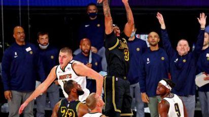 Basket - NBA - Play-offs NBA : Anthony Davis sauve les Los Angeles Lakers au buzzer contre Denver
