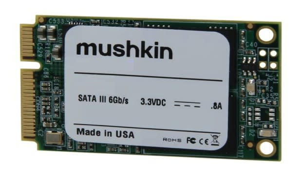 Mushkin shipping 'world's first' 480GB mSATA SSD in January for $500
