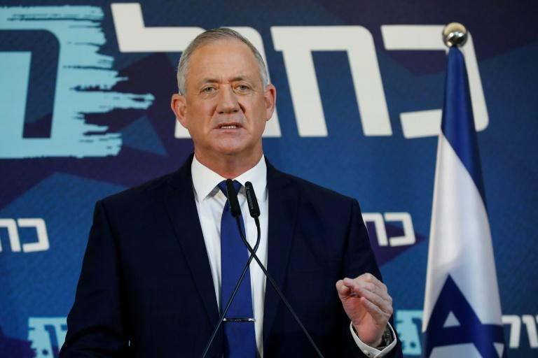 Netanyahu's main rival Benny Gantz has accused the prime minister of profiting personally from a purchase of submarines (AFP Photo/Jack GUEZ)