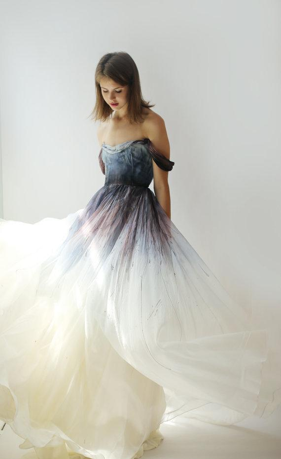 16 Stunning Dip Dye Wedding Dresses To Inspire You,Affordable Wedding Dresses Uk
