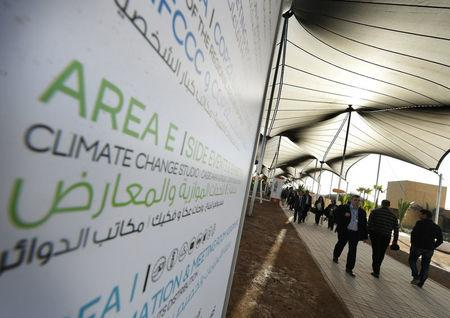 Delegates arrive for a Major Economies Forum meeting at the COP22 climate change conference in Marrakech