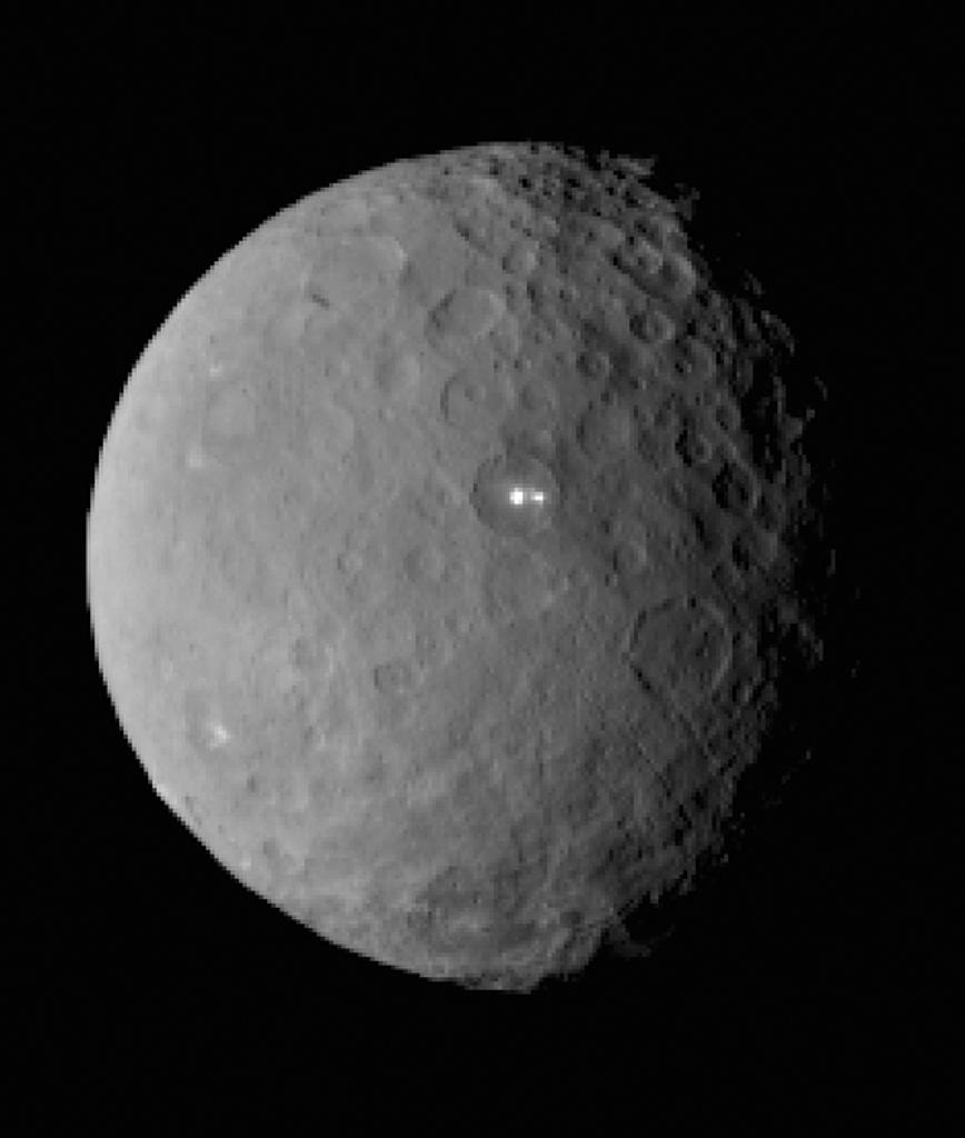 This image is taken by NASA's Dawn spacecraft of dwarf planet Ceres on February 19, 2015 from a distance of nearly 29,000 miles (AFP Photo/)