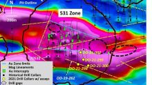 Maple Gold Reports Multiple High-Grade, Visible-Gold-Bearing Intercepts from the 531 Zone at the Douay Gold Project