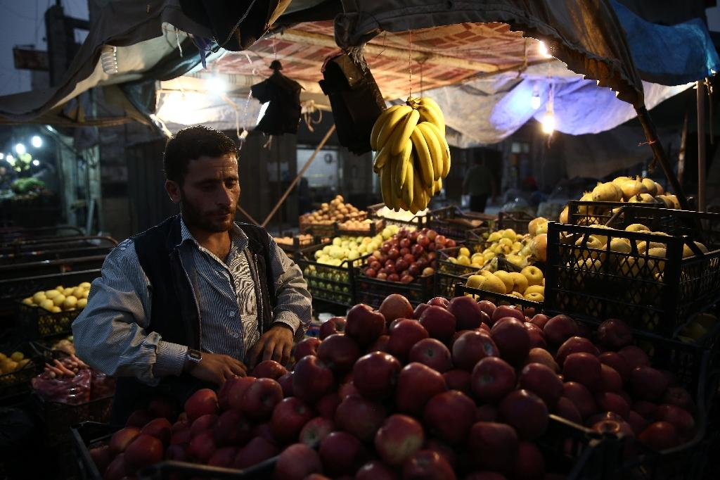 Traders in Azaz say it's cheaper for shoppers in rebel territory to buy Turkish-imported goods than products from government-held zones in Syria (AFP Photo/Nazeer AL-KHATIB)