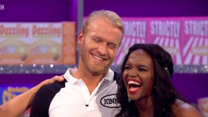 Strictly's Jonnie laughs off Shirley's awkward pun