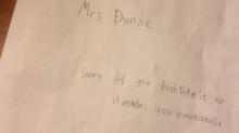 La conmovedora carta de un niño a su maestra tras la muerte de su perro