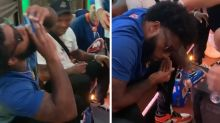 NY Jets' La'Mical Perine Epic Fail Trying To Shotgun Beer, 'I Almost Threw Up!'