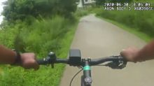'Let me borrow your bike': Atlanta police officer takes passing man's bicycle to chase fleeing murder suspect
