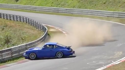 Watch This 964-Generation Porsche 911 Nearly Crash at the Nurburgring