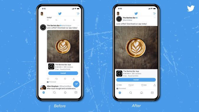 Twitter test displays bigger photos on iOS