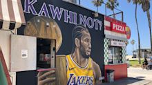 Meet the artist behind the viral Los Angeles Lakers murals