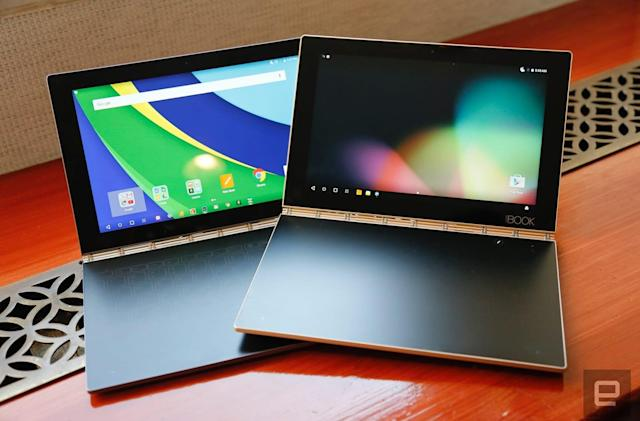 Lenovo's Yoga Book is part tablet, part sketch pad
