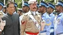 Pakistan Prime Minister Imran Khan inspects guard of honour